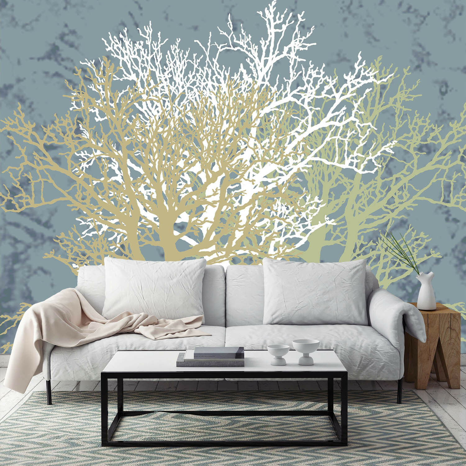 3D Trees Painting 89 Wall Paper Murals Wall Print Wall Wallpaper Mural AU Kyra