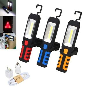 LED-COB-Inspection-Work-Light-Lamp-Flexible-Rechargeable-Hand-Torch-Magnetic