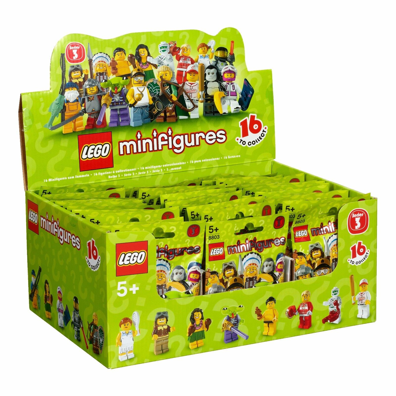Nuovo Factory Sealed LEGO 8803 Box/Case of 60 Minifigures Series 3