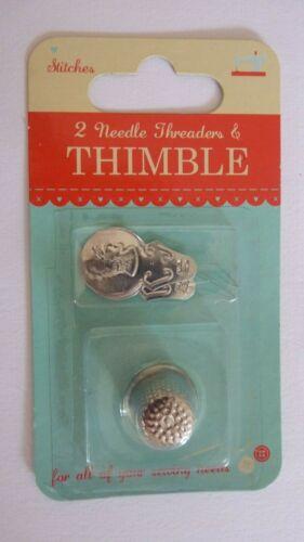 Thimble /& Needle threaders 2 Needle Threaders