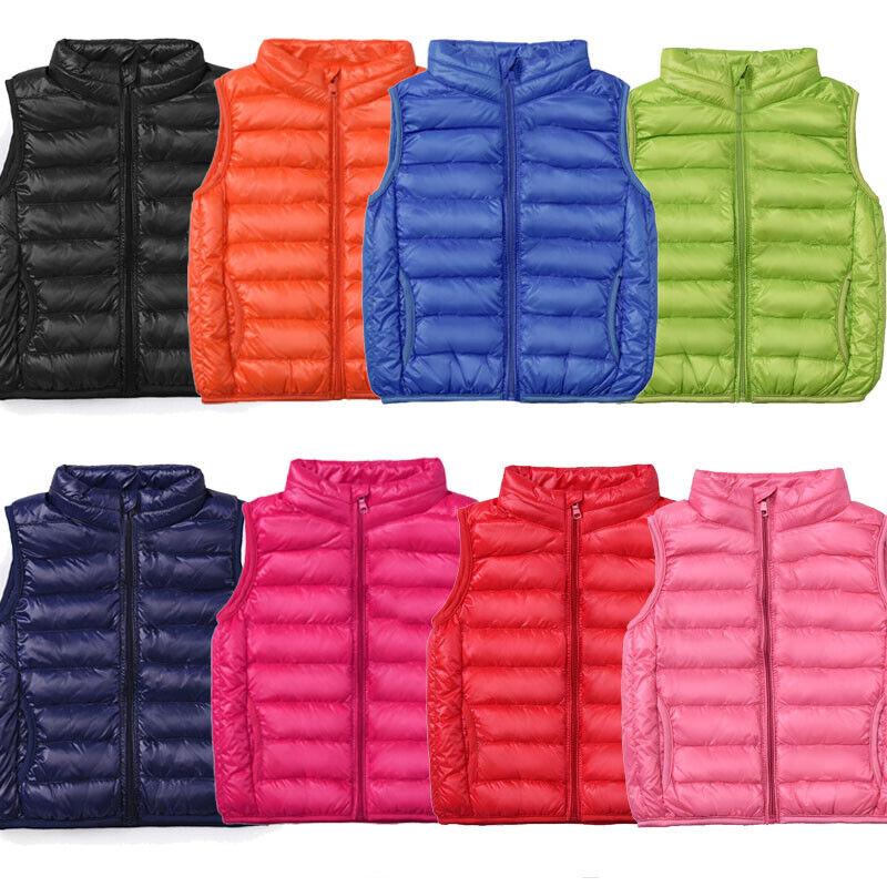 Toddler Baby Kid Girls Winter Warm Coat Floral Vest Tops Jacket Outerwear 2-7Y