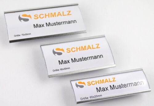 10 x Modisches Namensschild aus eloxiertem Aluminium mit Magnet