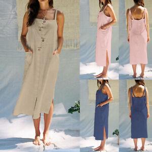 Women-Summer-Beach-Midi-Dress-Backless-Party-Casual-Sundress-Slip-Pinafore-Dress