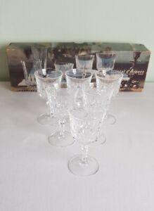 Cristal-D-039-arques-5cl-Crystal-Vintage-Boxed-Set-of-6-Glasses-Sherry-Port-Liqueur