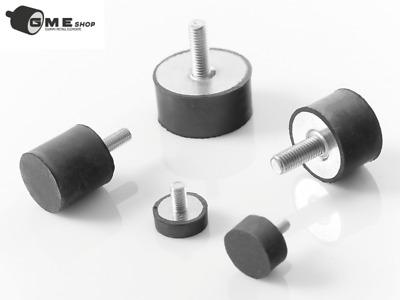 10Stück-Gummipuffer Typ D 50x30 M10//Anschlagpuffer// Silentblock//Maschinenfüsse D