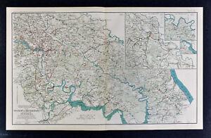 Civil War Map Richmond Petersburg Battlefields Virginia Peninsula