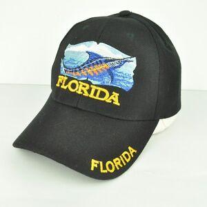 Enthusiastic Florida Sunshine State Fl Marlin Black Yellow Adjustable Classic Hat Cap Curved Baseball & Softball