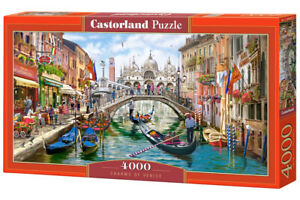 """Brand New Castorland Puzzle 4000 CHARMS OF VENICE 54"""" x 27"""" C-400287"""
