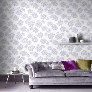 Image Is Loading Superfresco Lotus Modern Flower Floral Lilac Wallpaper