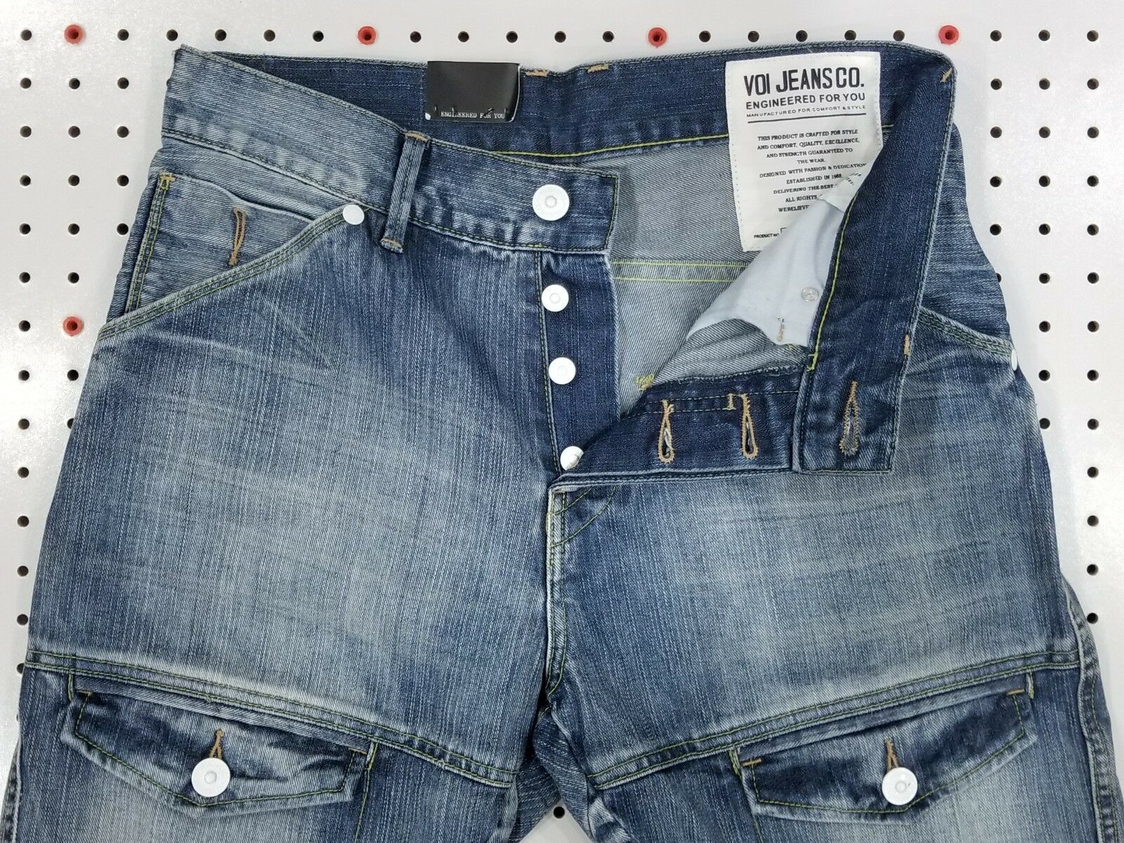 NWT Designer Jeans by VOI   Twisted Broken-In Non-Distressed HIGE Hi-Q Denim v4