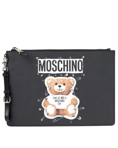 0e848a81b5 Caricamento dell'immagine in corso Borsa-Pochette-Moschino-Bag-SAFETY-PIN- TEDDY-Donna-