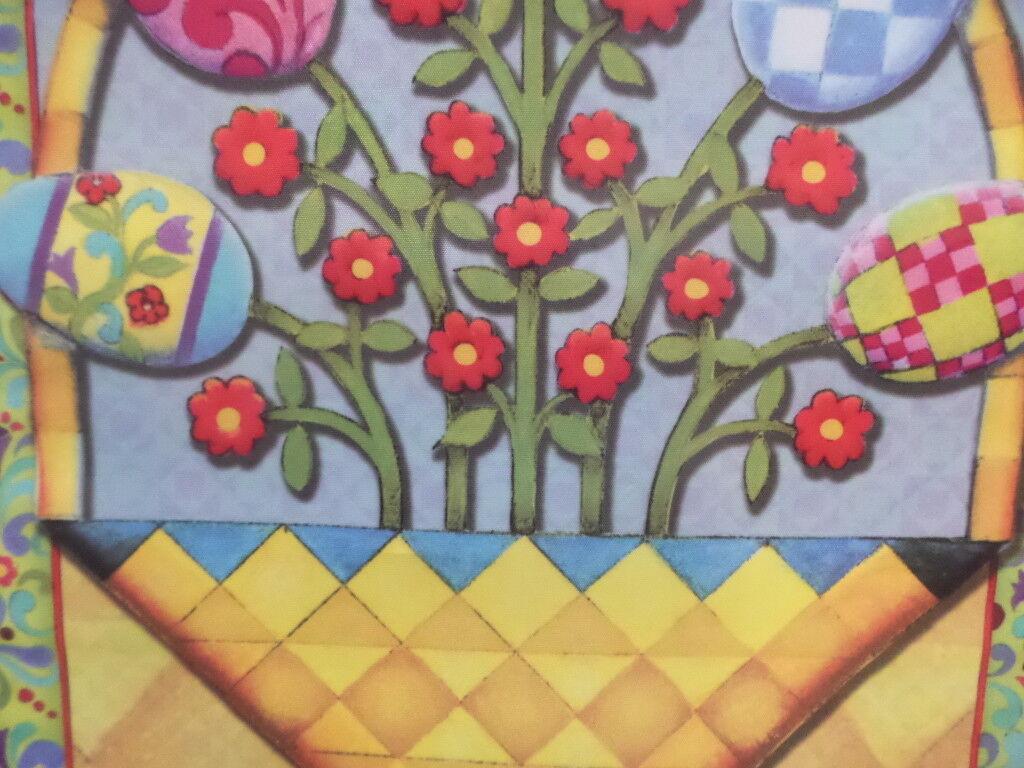 "Jim Shore Easter Basket Outdoor Garden Flag by Evergreen 12/"" x 18/"" #4892"