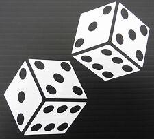 DADI d'azzardo gioco d'azzardo rischio per le automobili divertenti adesivi Van Paraurti Decalcomania 5336 BIANCO