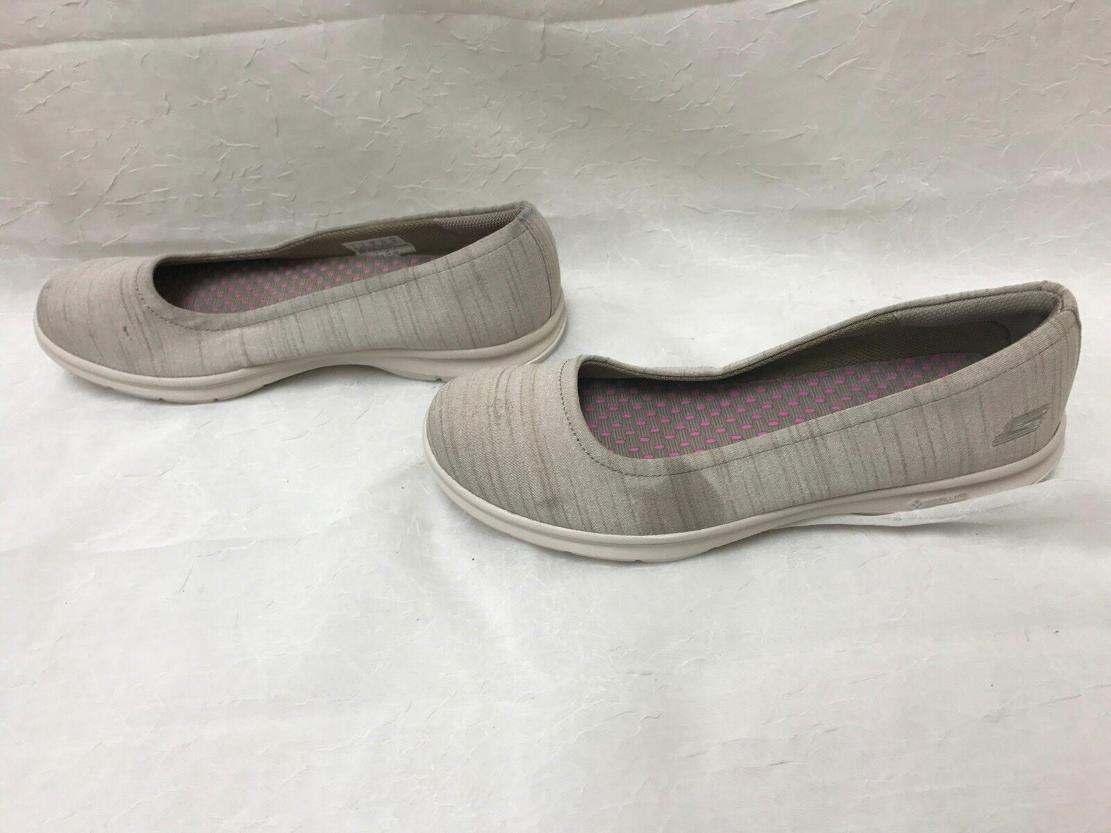 NuevoSkechers mujeres es ir paso Trace Ballet Flat taupe limitado comodo especial de tiempo limitado taupe e495e0