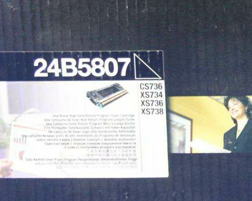 Original Lexmark Toner  24B5807 schwarz für CS736  XS736 A-Ware