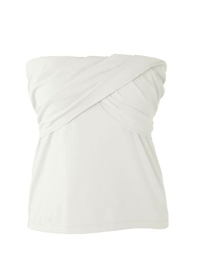 Ivory Cotton Stretch Strapless Knit Top J.Crew Mercantile Women/'s M NWT