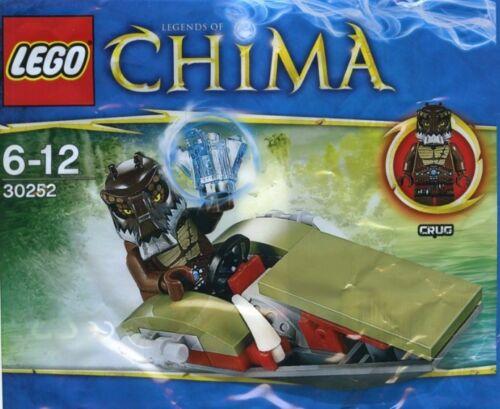New Genuine Lego x1 30252 Legends of Chima Crug/'s Swamp Jet Polybag