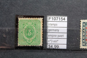 STAMPS-GERMANY-EMPIRE-YVERT-N-3-MH-F107154