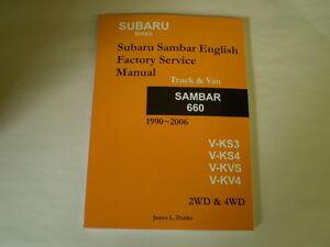 subaru sambar service manual ks3 ks4 kv3 kv4 ebay