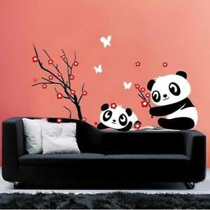 DIY-Wall-Sticker-Panda-Plum-Flower-Pattern-Removable-Vinyl-Decal-Home-Decor-Hot