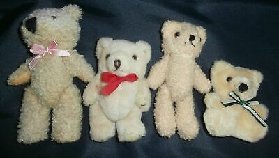 """""""""""4 Kleine Bären Teddy Teddybär Bär 3 Mit Beweglichen Gliedern 16 - 8,5 Cm Süß"""