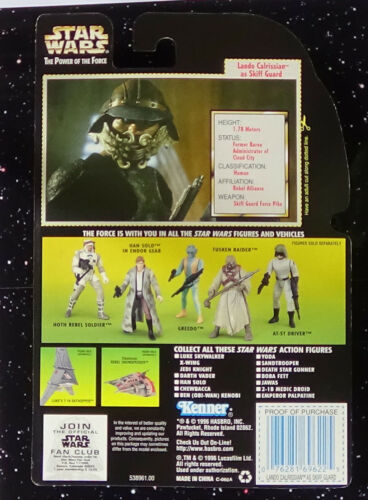 Lando-skiff guard non ouvert Star Wars Power of the Force 2 1997 Hologramme Green Y
