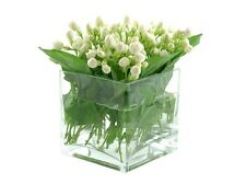 "Bulk 6 Pieces 6"" Clear Glass Square Vases"