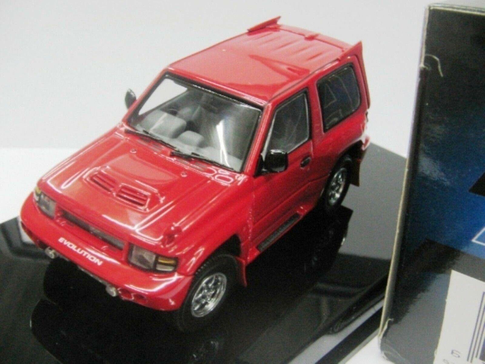 WOW EXTREMELY RARE Mitsubishi Pajero Evo RHD Red 1 43 AutoArt-Minichamps Makinen