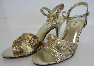 Anne Michelle L3r413 Femmes Or Cour Chaussures Tailles Uk 3 To 8 (r14a)-afficher Le Titre D'origine
