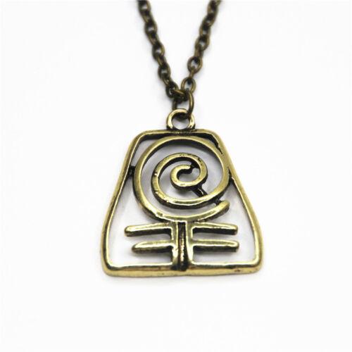 Bronze tone The Last Airbender halloween necklace pendants 4 Nations keychain