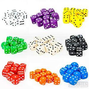 16mm-Dice-Six-Sided-D6-Wargame-RPG-Board-Games-Set-White-Black-Blue-Red-Packs