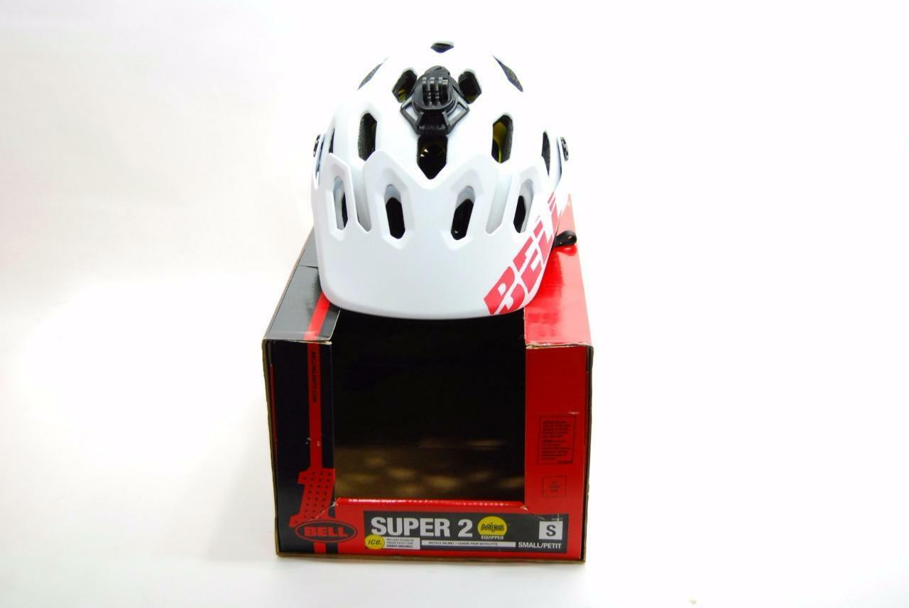 Bell Super 2 Mountain Bike Helmet Matte White Light bluee Small 52-56CM - New