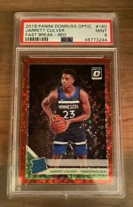 2019 PANINI OPTIC FAST BREAK RED JARRETT CULVER #160 RATED ROOKIE /85 PSA 9 MINT