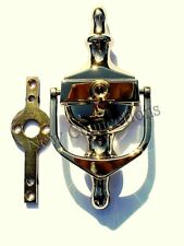 Victorian Style Door Knocker & Spyhole - Secret Fix System