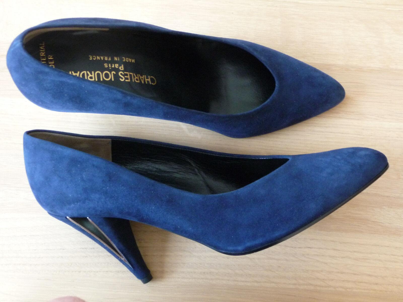 4.97) Charles Jourdan de alta calidad heels heels heels talla us9, 5b (aprox. eu 40) ganz cuero France  autorización