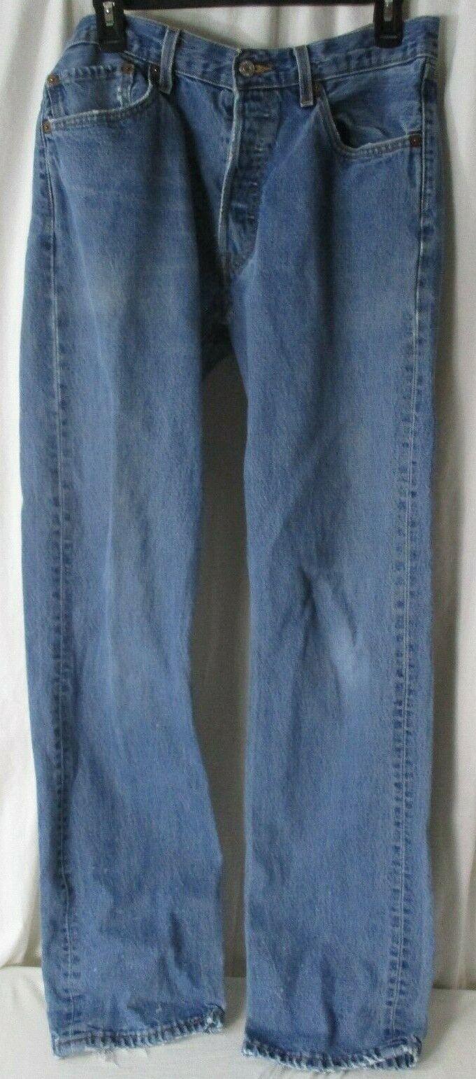 Men's Vintage Levi's 501 Distressed Jeans button … - image 1