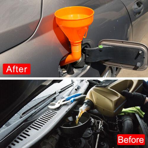 Large Detachable Flexible Car Water Oil Funnel Petrol Diesel W// Spout /& Filter