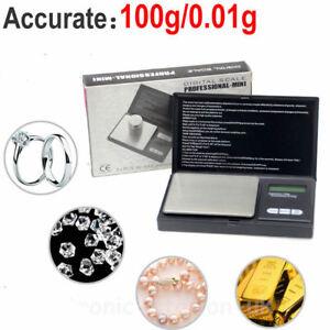 Électronique de poche Mini Digital Or Bijoux poids échelle 0.01 g à 100-200 grammes-afficher le titre d`origine