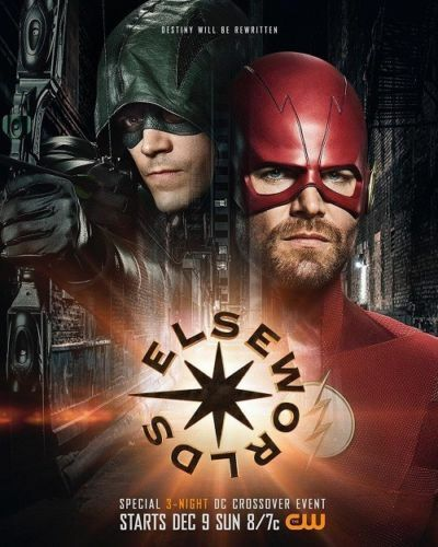 N-394 The Flash Arrow Crossover Silk Poster 12x18 24x36 Elseworlds TV Series