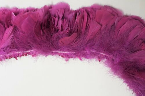 "2 Yards TURKEY FRINGE LILAC 4/""-6/"" Feathers Trim//Costume//Halloween"