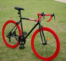 2016 DIOKO SOUL - black / neon / orange  700C hybrid road fixie bike bicycles