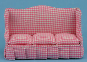 Pleasant Details About Dollhouse Miniatures 1 12 Scale Pink Checkered Sofa Item Cla10908 Ncnpc Chair Design For Home Ncnpcorg