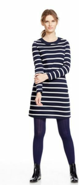 NEW BODEN Women's Peter Pen Collar Striped color Breton Tunic Dress Size US 2 P