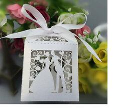 50pz scatola confetti segnaposto matrimonio sposini lanterna bomboniera 2016