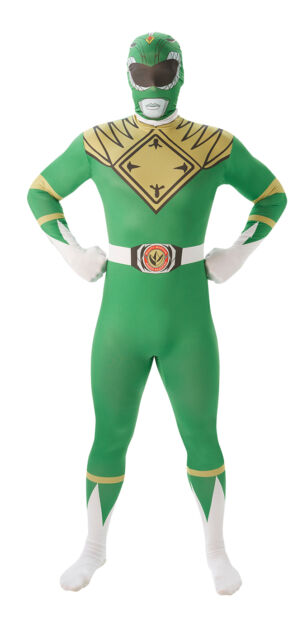 Fancy Dress Costume ~ Power Rangers Green Ranger 2nd Skin Costume To Fit 5'4-6'3