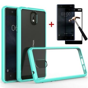 official photos 0e0ee cb92c Details about For Nokia 3.1 Hybrid Shockproof Luxury Rubber Slim Bumper  Clear Hard Case Cover
