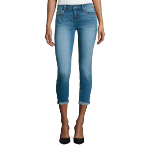 Stylus Roll-Cuff Skinny Ankle Jeans Size 4P Msrp $48
