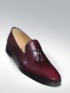 half off cheaper sale uk store Details about Handmade Men Burgundy shoes moccasins, Men formal shoes Men  fashion Tassel shoes