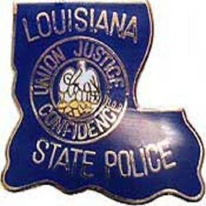 "LA   LOUISIANA STATE POLICE MINI PATCH PIN - NEW POLICE LAPEL PIN 1"""