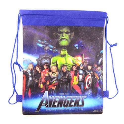 Avengers Drawstring Bag Cartoon Travel Storage Shoulder Bags Birthday Party Gift